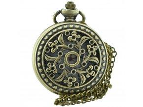 kapesni hodinky otviraci do kapsy kvetiny