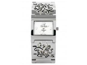 damske naramkove hodinky GINO ROSSI 7664B zg506a silver flowers BOX 10730 1