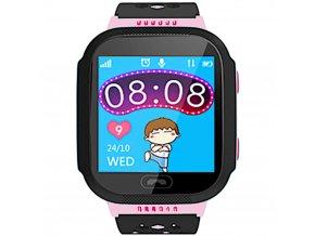 chytre hodinky s gps lokatorem pro deti ruzove