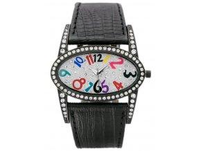 damske naramkove hodinky s krystaly a kozenym reminkem gino rossi cerno cerne (10)