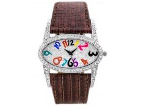 damske naramkove hodinky s krystaly a kozenym reminkem gino rossi hnede (2)