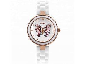 damske naramkove hodinky skmei 9131 s motylkem zlate
