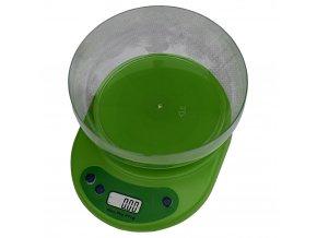 digitalni kuchynska vaha s miskou zelena eshophodinek