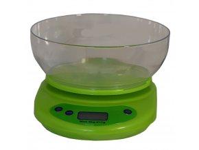 digitalni kuchynska vaha s miskou zelena
