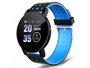 chytre smart hodinky 119plus modre