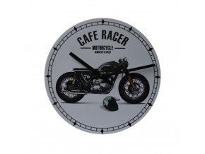 motorkarske nastenne hodiny cafe racer 200 mm