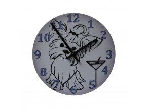 motorkarske nastenne hodiny pejsek pes yorshire 200 mm