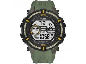 digitalni hodinky smael 1616 army green