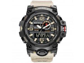 digitalni hodinky smael 8035 khaki sahara