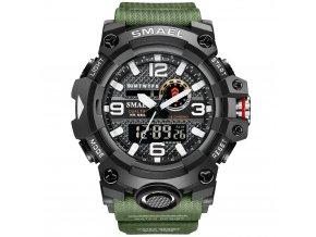 digitalni hodinky smael 8035 khaki army green