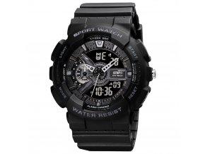 digitalni hodinky s dvojim casem gtup 1210 vodotesne 5 atm cerne