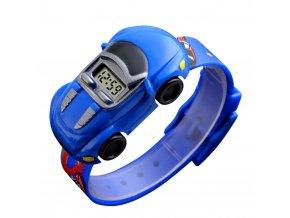 detske digitalni hodinky ve tvaru modreho auticka skmei