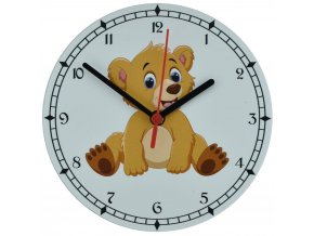 nastenne detske hodiny s tichym chodem tereni medvidek pro deti