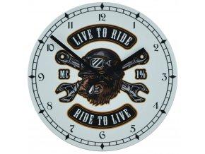 nastenne motorkarske hodiny pro motorkare live to ride