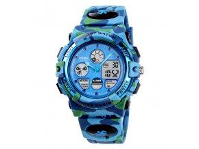 sportovni hodinky s dualnim casem vojenske maskovane skmei 1163 svetle modre