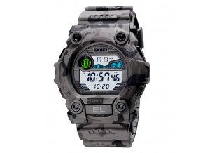 sportovni digitalni hodinky skmei vojenske vodotesne skmei sede