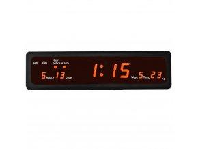 led digitalni hodiny cervene velkoformatove s datumem vterinami