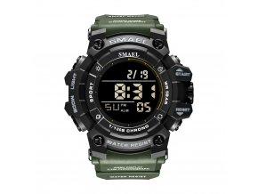 panske digitalni hodinky digitalky smael 8046 camo green