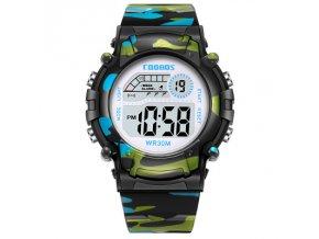 detske digitalni vojenske maskovane army hodinky coobos cerne