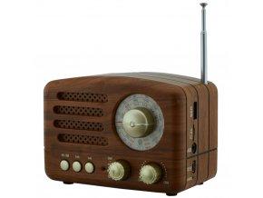 retro radio bluetooth reproduktor tf card USB analogovy cifernik cmik mk 615bt
