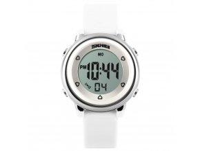 damske detske digitalni hodinky digitalky skmei 1100 bile