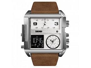panske obrovske hodinky skmei 1391 coffee silver