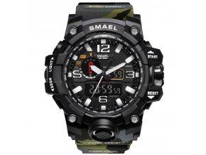 panske vojenske army hodinky s dualnim casem 1545 camouflage maskovane