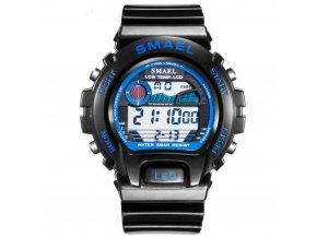 panske digitalni hodinky smael 0931 cerno modre digitalky hlavni