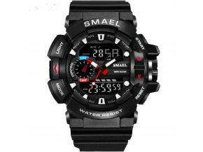 panske digitalni rucickove hodinky smael 1436 s dualnim casem 1436 bile