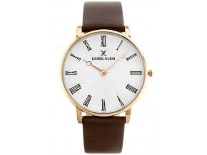panske hodinky daniel klein s kozenym reminkem (1)