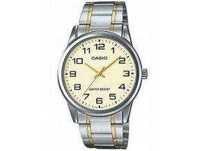 panske rucickove hodinky casio analog ve stribrne zlate barve na baterii pouze na eshophodinek (3)