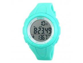 damske digitalni hodinky s 3D krokomerem gtup 1150 zelene