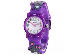 detske hodinky jnew myska fialove
