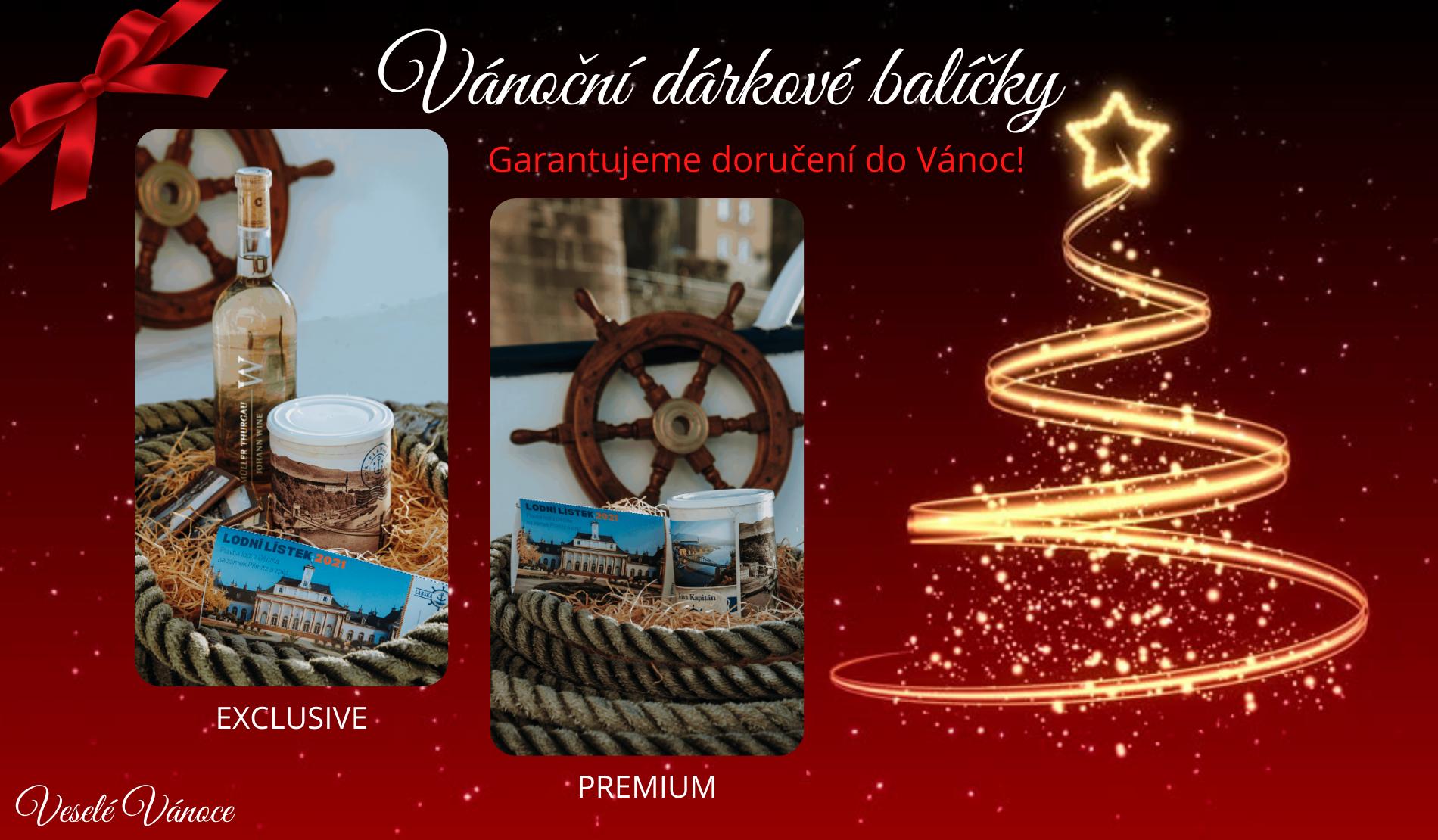 Vánoční dárkové balíčky Premium a Exclusive