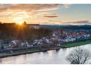 Sonnenaufgang in Pirna