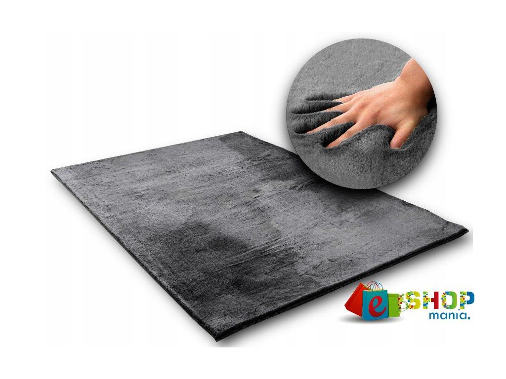 Hedvábný koberec Rabbit - GREY