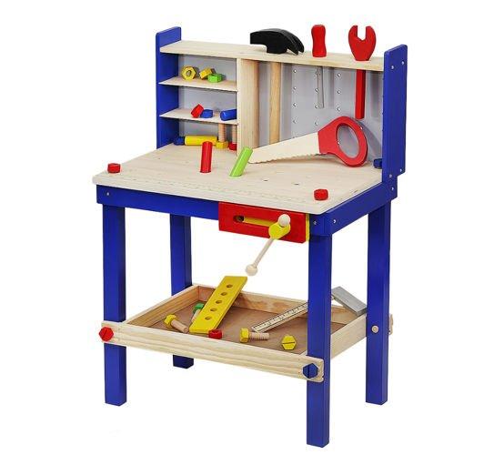 Malatec Stůl - Ponk s nářadím, dřevěný 30 dílů