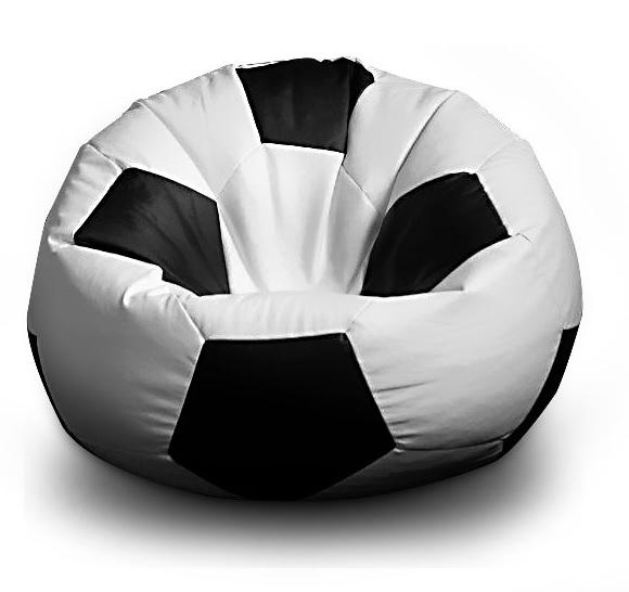 FITMANIA Sedací vak Fotbalový MÍČ XXL 430L Vzor: 01 bílo-černá