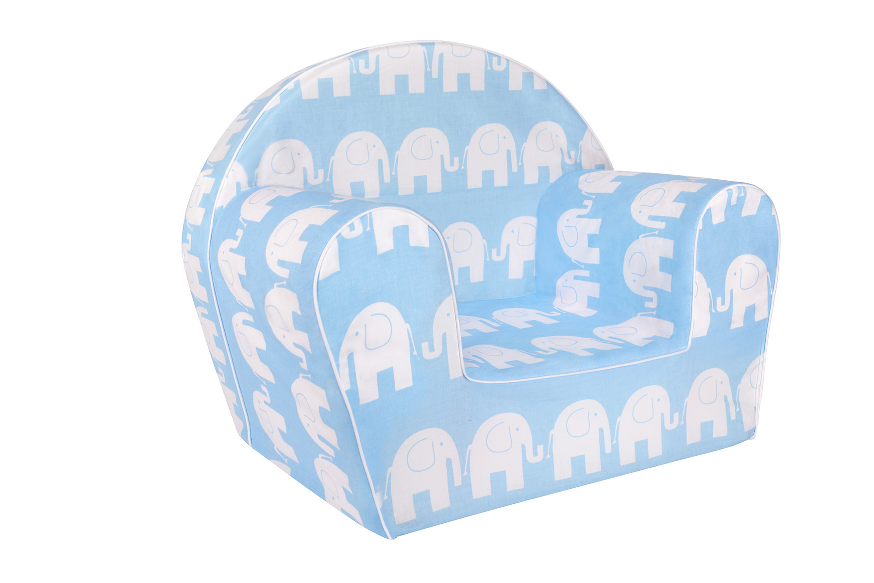 TEX-IM Dětské křesílko Baby Vzor: Bílý slon na modrém