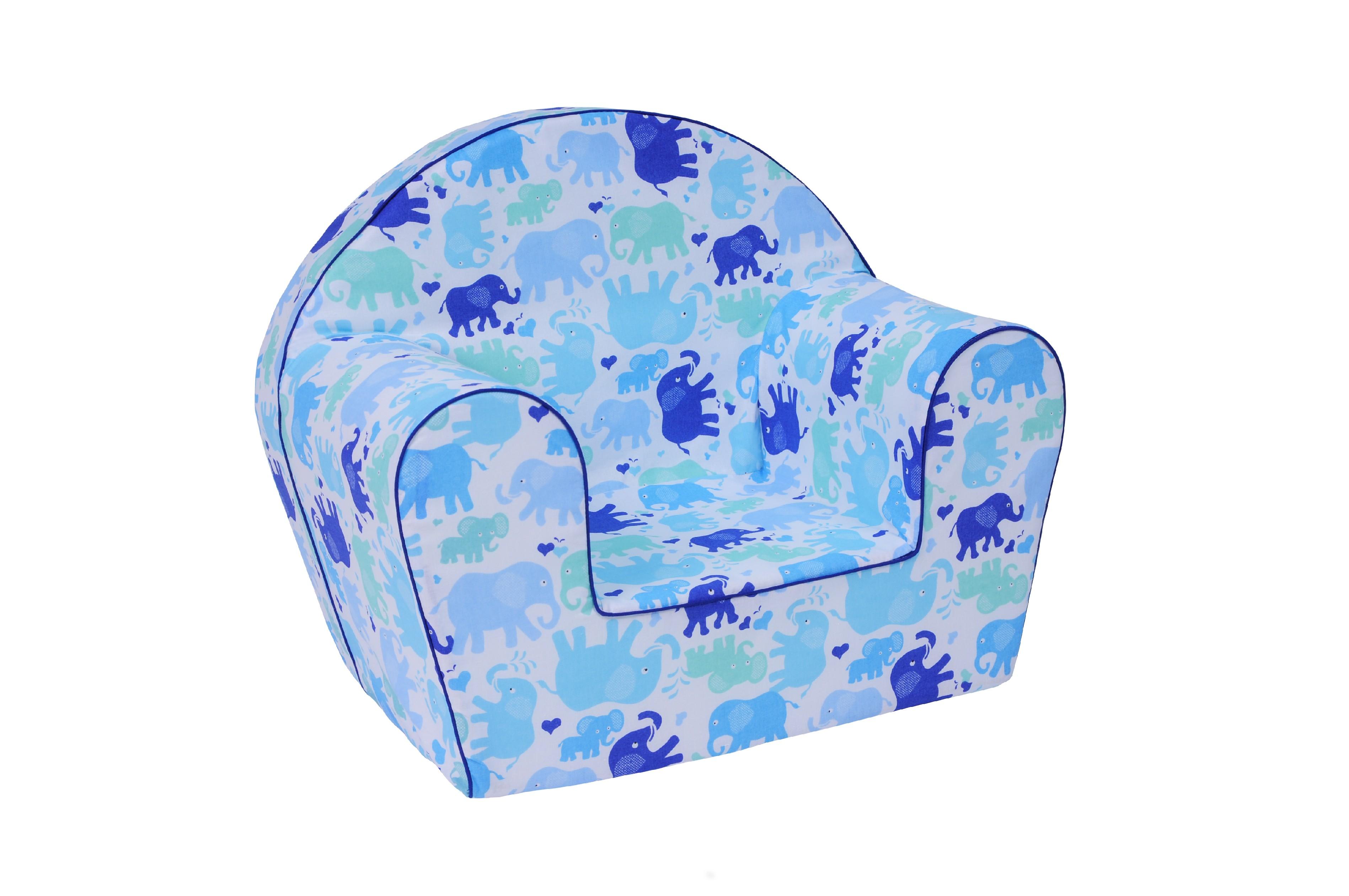 TEX-IM Dětské křesílko Baby Vzor: Modrý slon