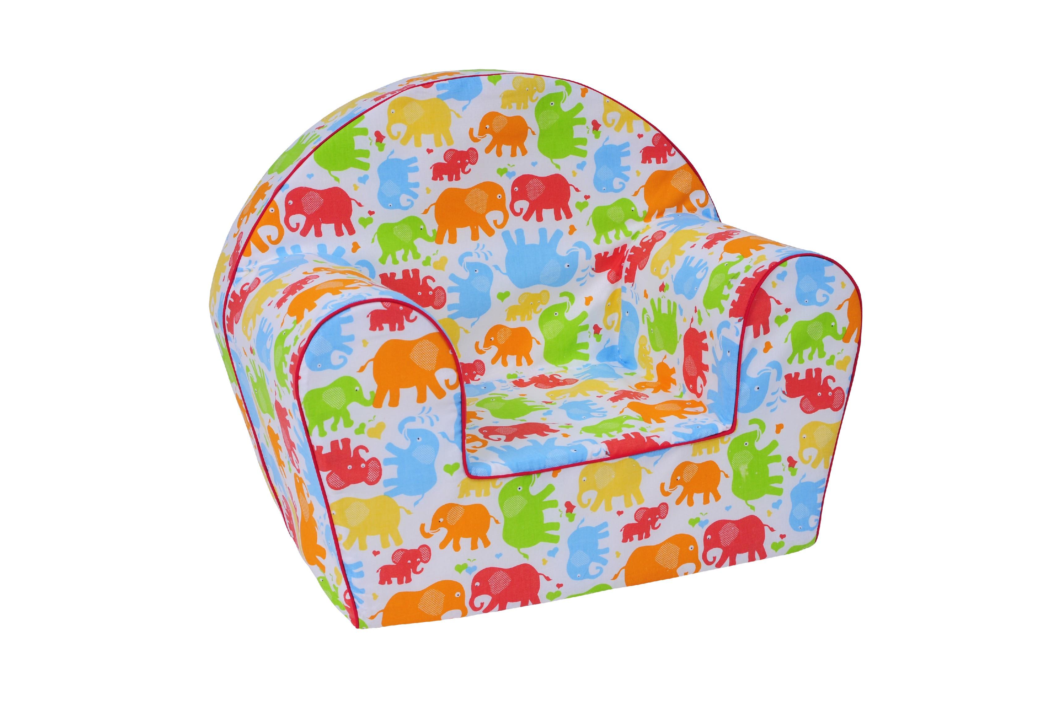 TEX-IM Dětské křesílko Baby Vzor: Barevný slon
