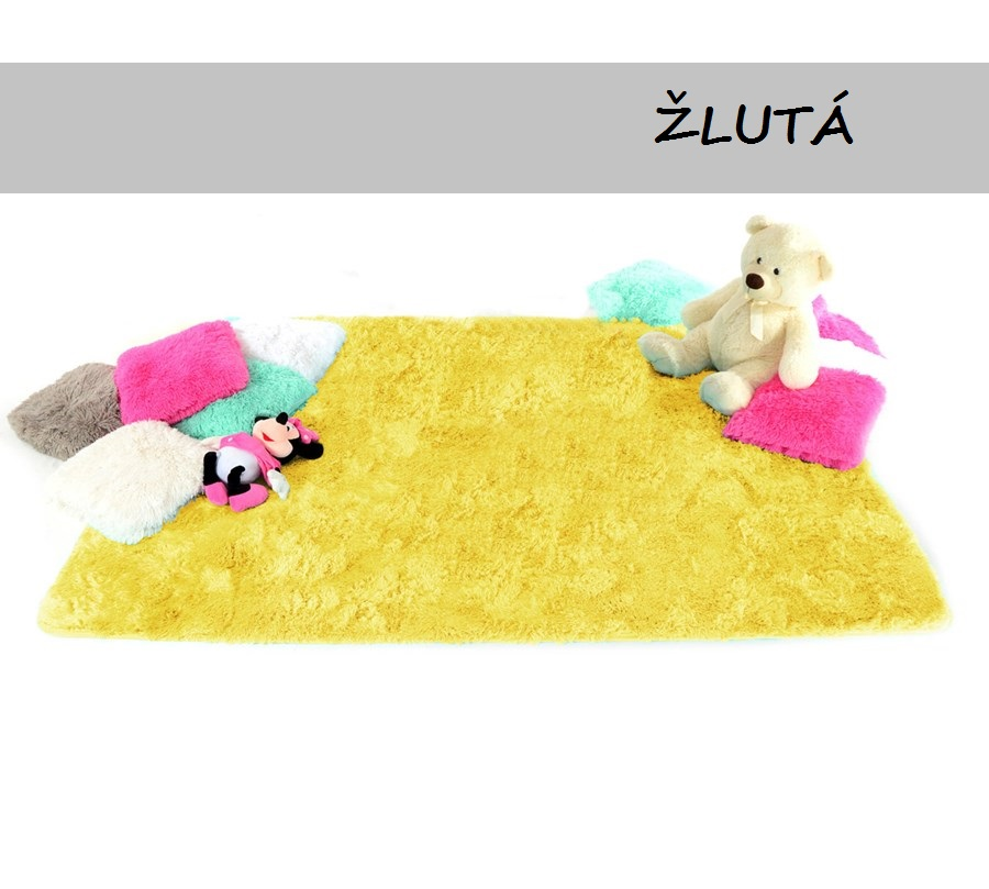 FITMANIA Plyšový koberec SHOCK BIG 140x200 cm Barva: Žlutá