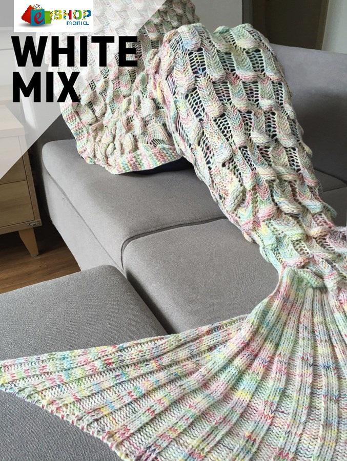 Deka Mořská panna Vzor: WHITE MIX