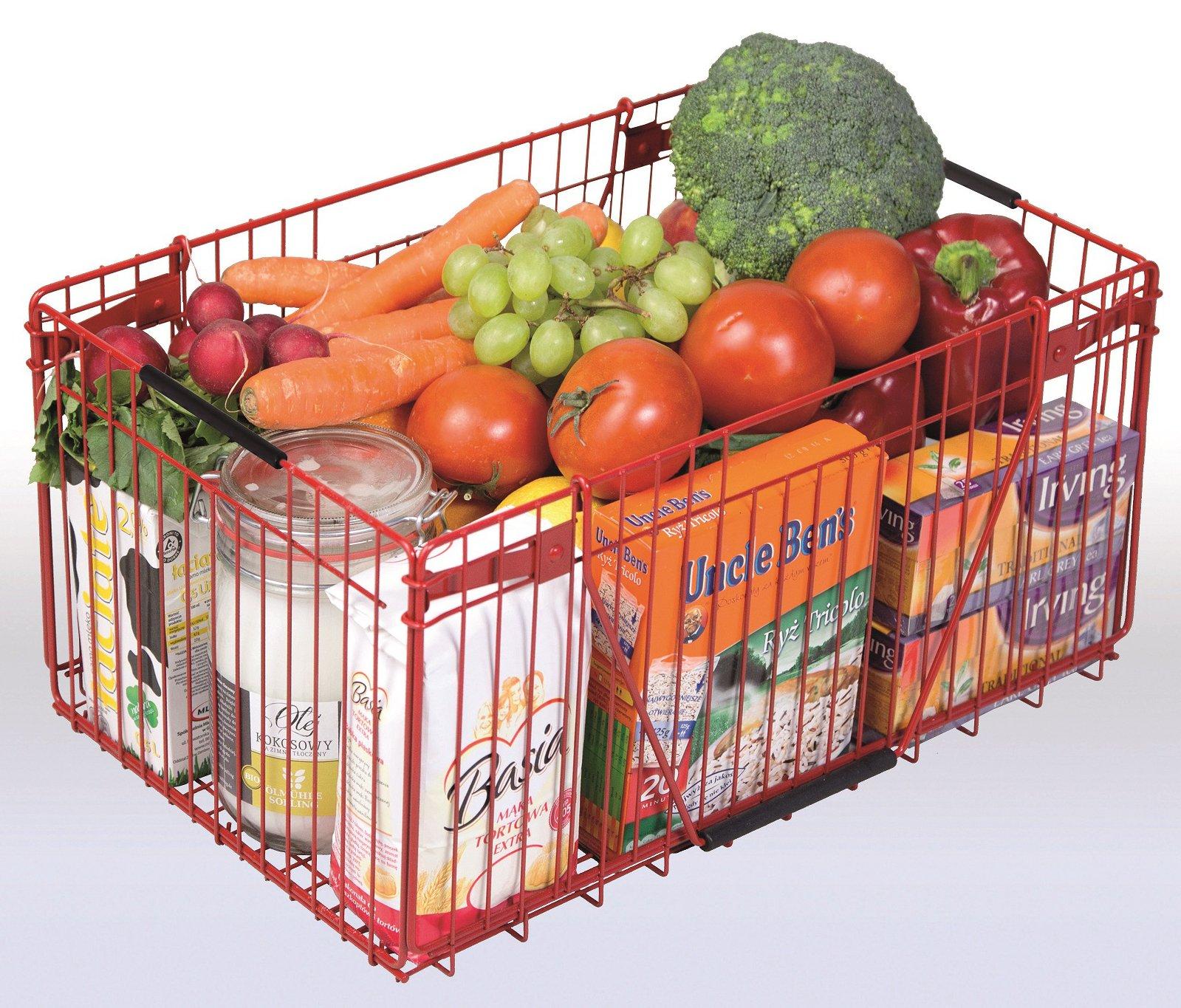 Mados Nákupní košík SHOP Barva: Červená