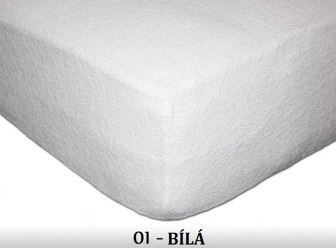 FIT Prostěradla 180g Barva: 01 bílá, Rozměr: 180x200 cm