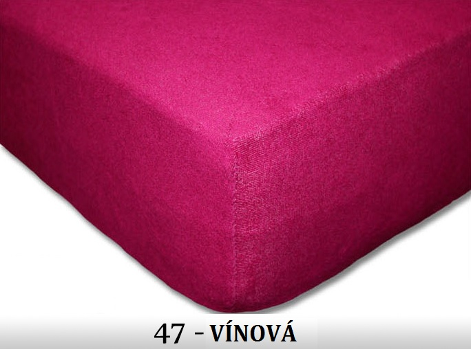 FIT Prostěradla 180g Barva: 47 VÍNOVÁ, Rozměr: 180x200 cm
