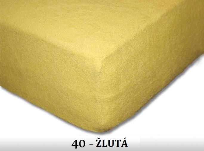 FIT Prostěradla 180g Barva: 40 ŽLUTÁ, Rozměr: 80x200 cm