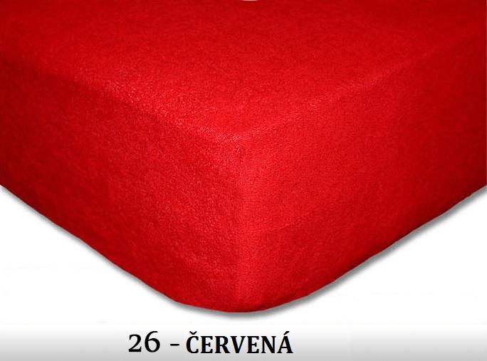 FIT Prostěradla 180g Barva: 26 červená, Rozměr: 180x200 cm