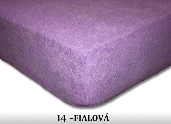 FIT Prostěradla 180g Barva: 14 FIALOVÁ, Rozměr: 180x200 cm