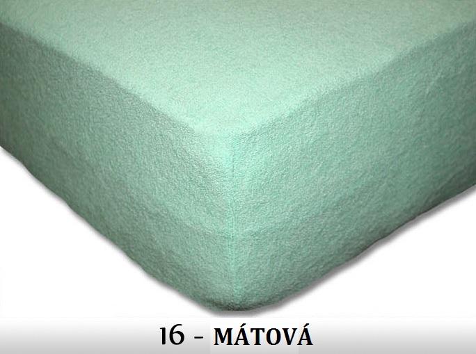 FIT Prostěradla 180g Barva: 16 MÁTOVÁ, Rozměr: 180x200 cm